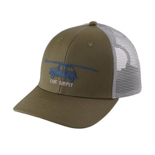 Patagonia Live Simply Glider Trucker Hat Fatigue Green