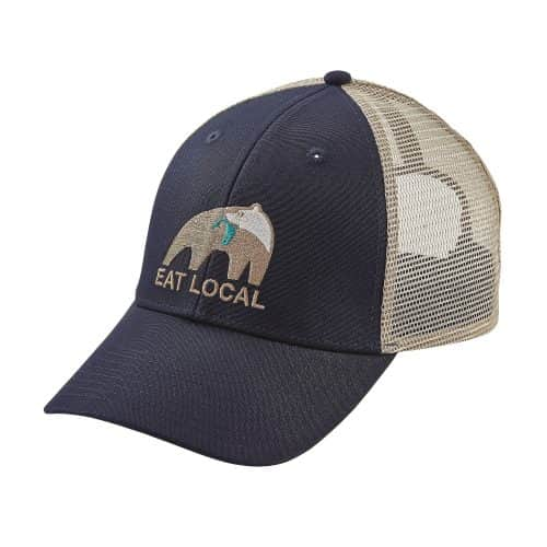 Patagonia Eat Local Upstream LoPro Trucker Hat Navy Blue