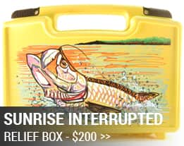 Jorge Martinez Hurricane Relief Fly Box Tarpon Sunrise Interrupted CTA