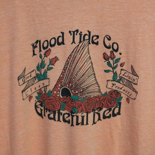 Flood Tide Co Grateful Red T-Shirt Front