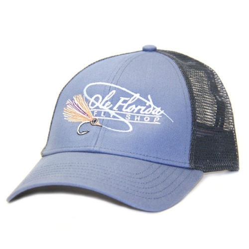Ole Florida Logo Trucker Blue Stream