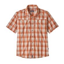 Patagonia Men's Sun Stretch Shirt Granville Big: Sunset Orange